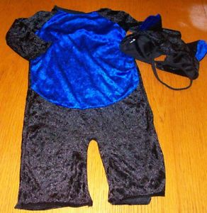 Baby Boy Halloween Bat Costume 12 18 Month 2 PC Jumpsuit Hat Ears Velvety Soft