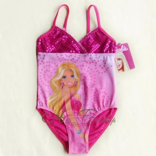 Girl Kids Barbie Princess 2 7Y Swimsuit Swimwear Swimming Costume Tankini Bikini