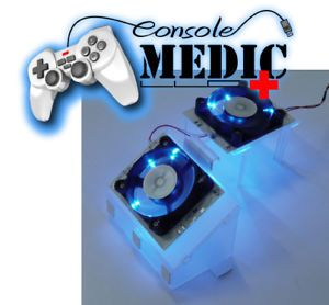 Xbox 360 XCM Core Cooler V2 Cooling Dual Fan LED Blue
