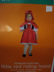 Brand New Little Red Riding Hood Infant Toddler Halloween Costume Size 2T 3T