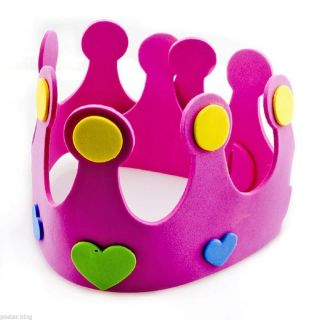 Pink Crown Adult Toddler Fancy Dress Hat Party Costume