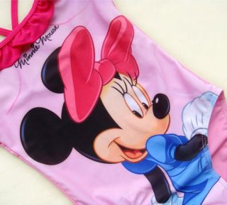 Disney Minnie Mouse Girls Swimsuit Swimwear Tankini swmming Costume Bather 2 9Y