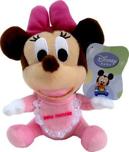 Disney Baby Minnie Mouse Cuddly Soft Stuffed Plush Toys