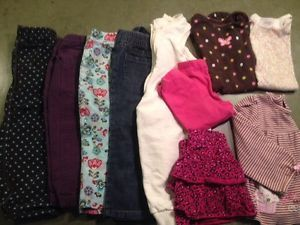 Baby Girls Clothes 24 Months Pants Jeans Onesies Shirt Polka Dot Flowers Carters