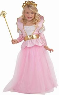 Girls Pink Princess Queen Dress Kids Halloween Costume