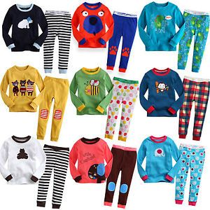 "Baby Toddler Kid's Clothes Boys Girls Sleepwear Pajama Size 12M 5T ""Savanna"""