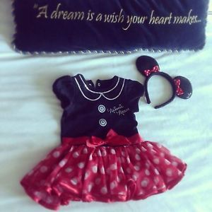 Girls Minnie Mouse Costume Tutu Dress Disney Baby 9 12 Month
