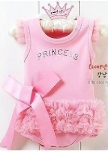 Girl's Baby Short Top Set Suit Bodysuit Costume Clothing Pricess Dress 0 36M