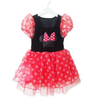 Girls Baby Polka Dots Minnie Mouse Tutu Fancy Xmas Costume Dress Party Gift Sz 4