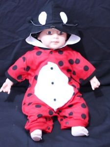 Halloween Cute Red Bettle Costume Baby Toddler NB 18M