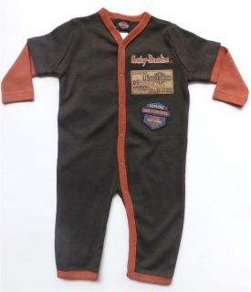 Harley Davidson Infant Baby Boys Apparel One Piece Footed Coverall