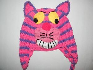 Cheshire Cat Handmade Crochet Hat Halloween Costume Hat Only Baby to Adult