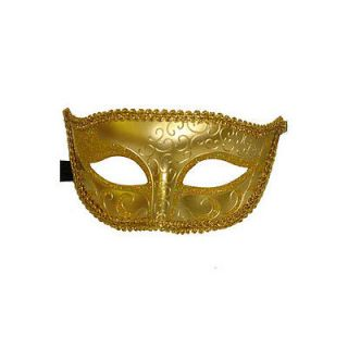 Halloween Costume Masks Gold Half Face Venetian Masquerade Mask New