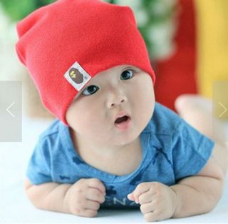Watermelon Red Color Children Hats Cotton Baby Hat Girl Boy Beanies Cap Hats