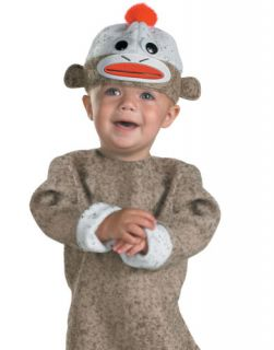 Kids Cute Sock Monkey Animal Infant Baby Halloween Costume Outfit 12 18 Mths