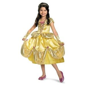 Belle Beauty Beast Disney Princess Girls Toddler Costume Shimmer 3T 4T