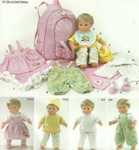"15"" Baby Doll Clothes Carrier Blanket Baby Alive Cabbage Patch Sew Pattern 1952"