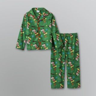 Disney Boys Toddler Mickey Mouse Green Shirt Pants Pajamas Set 3T 4T 5T New