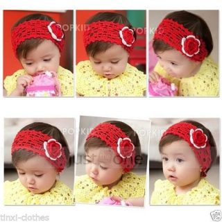 Pretty Baby Toddlers Kids Girls Cute Hollow Crochet Flower Hair Decor Headband