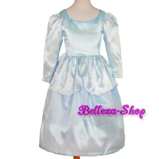 Girl Cinderella Princess Party Costume Fancy Dress 2T 7