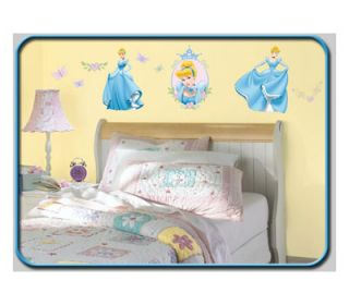 30 Disney Princess Cinderella Decor Decals Wall Stickers Kids Room Decorations