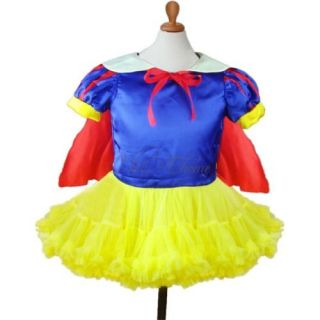 Girls Kids Snow White Princess Ballet Dance Dress Pettiskirt Costume Tutu Sz 2 6