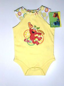Sesame Street Elmo 2 Piece Set 3 6M Infant Baby Clothes Girl Boy