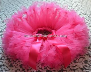 Hot Pink Party Costume Ballet Girl Toddler Baby Tutu Skirt 0 5T