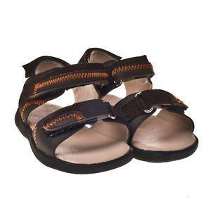 Baby Toddler Children Kid Brown Oranges Leather Shoes for Boys Size 6 7 8 9 10