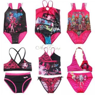 Monster High Skull Girl Kid Eyes Swimwear Swimsuit Swimming Costume Bathing Suit