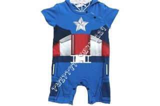 Captain America Iron Man Baby Infant Outfit Costume Romper 0 3 6 12