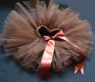 Brown Party Costume Ballet Kids Dancing Girl Toddler Child Baby Tutu Skirt