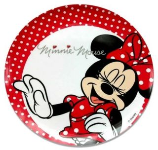 Disney Minnie Mouse Spots Melamine Plastic Feeding Plate Pack of 2 Girls Baby