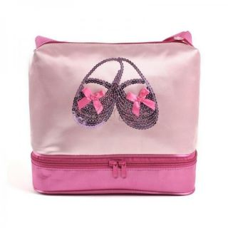 Girls Kid Pink Ballet Dance Duffle Zippered Bag Fashion Shoulder Hand Tote Gift