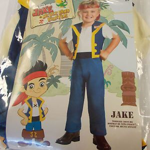 Jake Neverland Pirate Toddler Costume Child Toddler 2T NIP