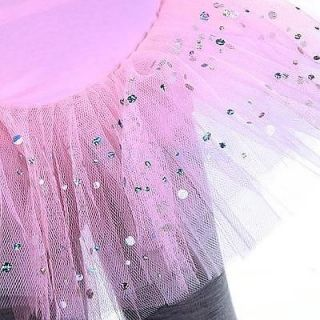Girl Ballet Dance Dress Costume Leotard Tutu 5 6 Pink