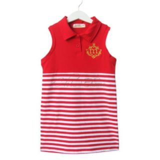 Baby Girl Kid Polo Striped Top Sailor Slim Dress Casual Costume One Piece Sz 2 6