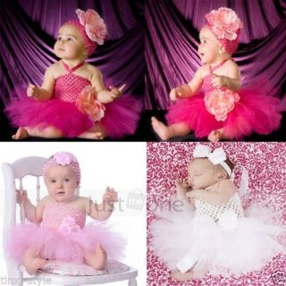 Baby Toddler Infants Girls Sweet Wedding Birthday Party Tutu Dress 0 24 Months