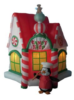 7' Airblown Inflatable Candy Shop House Lighted Christmas Yard Art Decoration