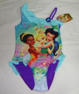 Girls Kids Princess Tinkerbell Swimsuit S4 5Y Tankini Bathing Swimming Costume