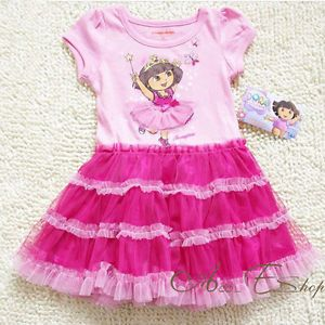 Dora The Explorer Girl Kids 18M 5Y Fairy Costume Party Summer Dress Skirt Outfit