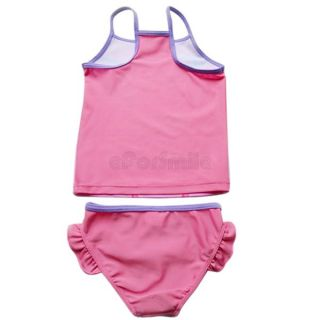 Kids Girls 2 3 4 5 6 7 8 9 Pink Winx Swimsuit Swimming Costume Tankini Bathing