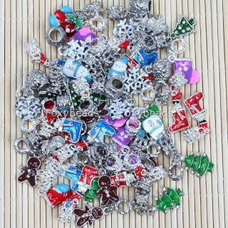 Lot Shiny Christmas Tree Topper Ornaments Santa Claus Gloves Hanging Decorations