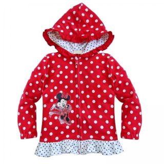 Polka Dots Girls Minnie Mouse Hooded Top T Shirt Thin Jacket Coat Costume 2T 6