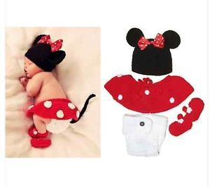 Newborn Infant Baby Girl Hat Skirt Pants Shoes Crochet Knit Prop Outfit Clothes