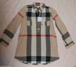 Burberry Little Girls Exploded Check Shirt Dress Top Size 3Y 4Y $195
