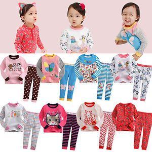 "2pcs Vaenait Baby Toddler Kids' Girls Clothes Sleepwear Pajama ""Girlish Set"""