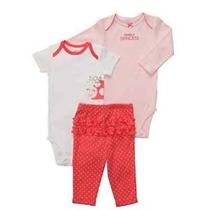 Carters Baby Girl Clothes 3 Piece Set Red Ladybug 3 6 9 12 18 24 Months