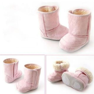 Toddler Baby Winter Snow Boots Kids Fur Lining Boot Infant Boy Girl Wool Shoes