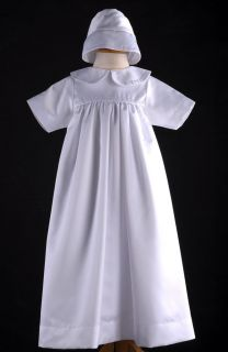 Baby Girls Boys Christening Baptism Dresses Gown Robe Infant Sizes XS L White